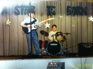 Michael and Brady in their 5th grade talent show